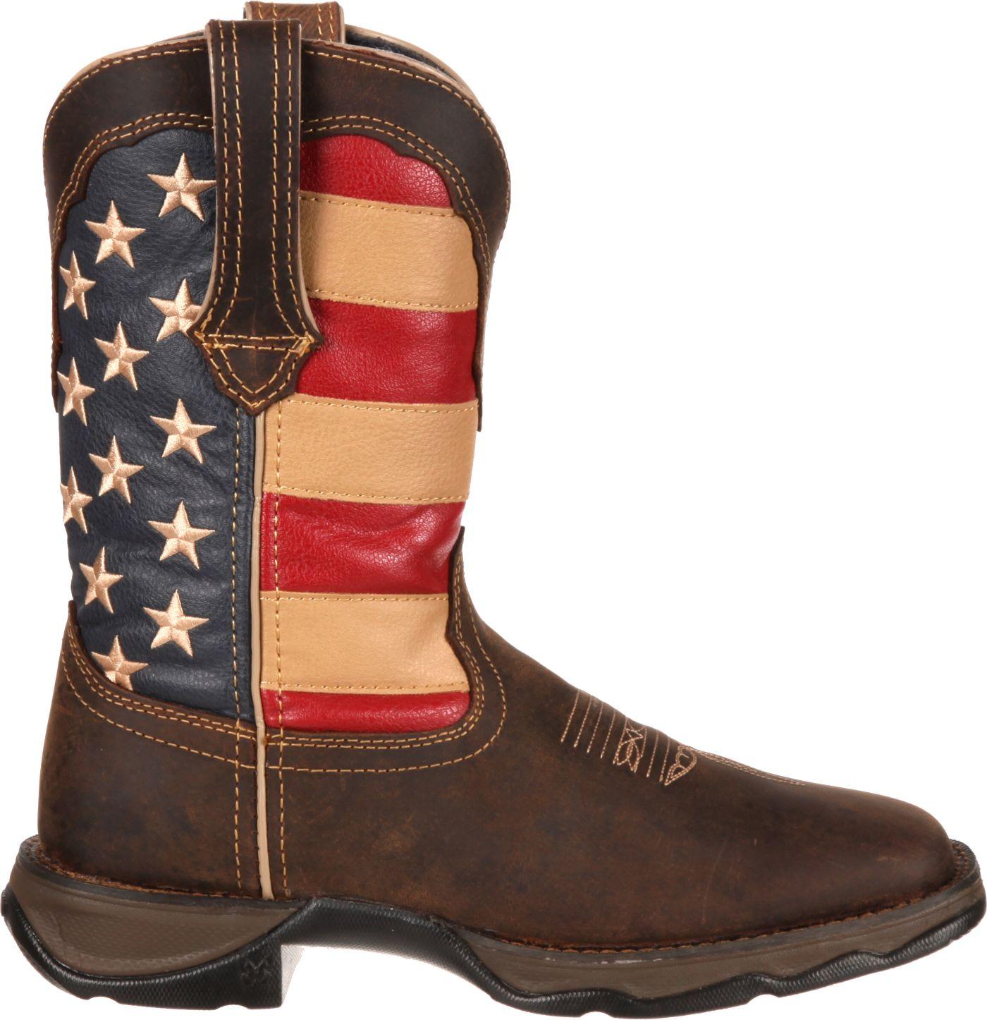 Durango Women's Lady Rebel Patriotic Pull-On Western Work Boots