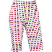 EP Pro Women's Geo Squares Print Tech Compression Shorts