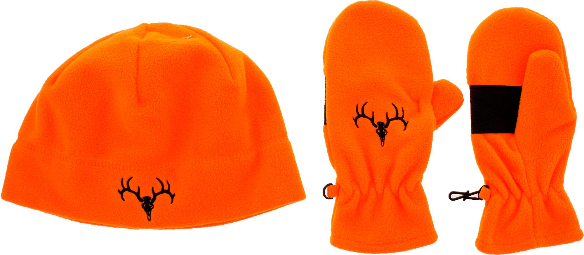 Field & Stream Youth Hunting Skull Beanie and Glove Combo, Kids Unisex, Blaze Orange thumbnail