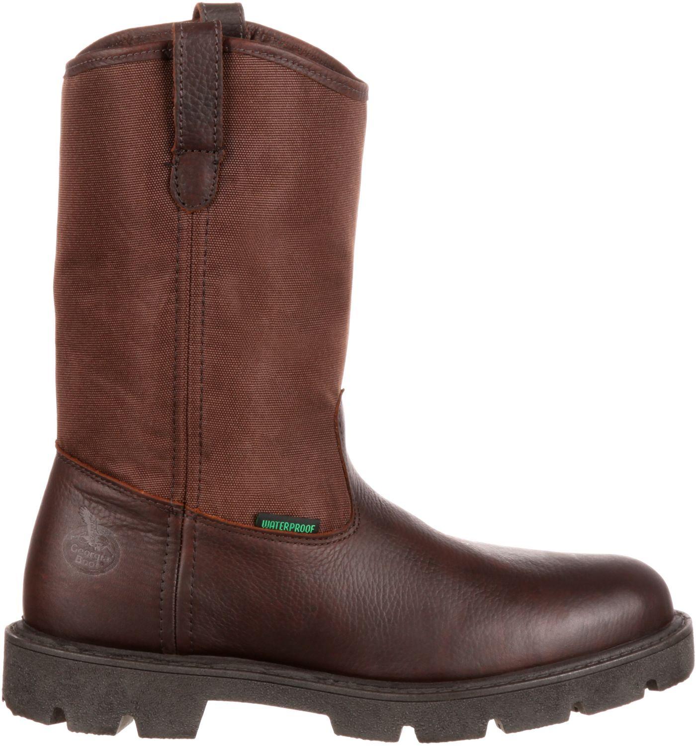 Georgia Boot Men's Homeland Wellington 10'' Waterproof Work Boots