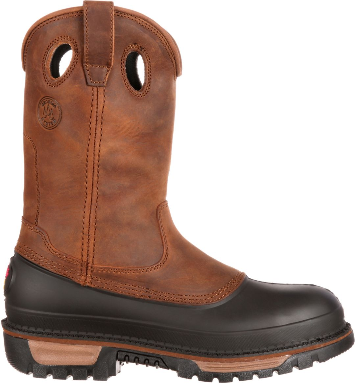 "b3918f05f51 Georgia Boot Men's Wellington Mud Dog 11"" Steel Toe Work Boots"