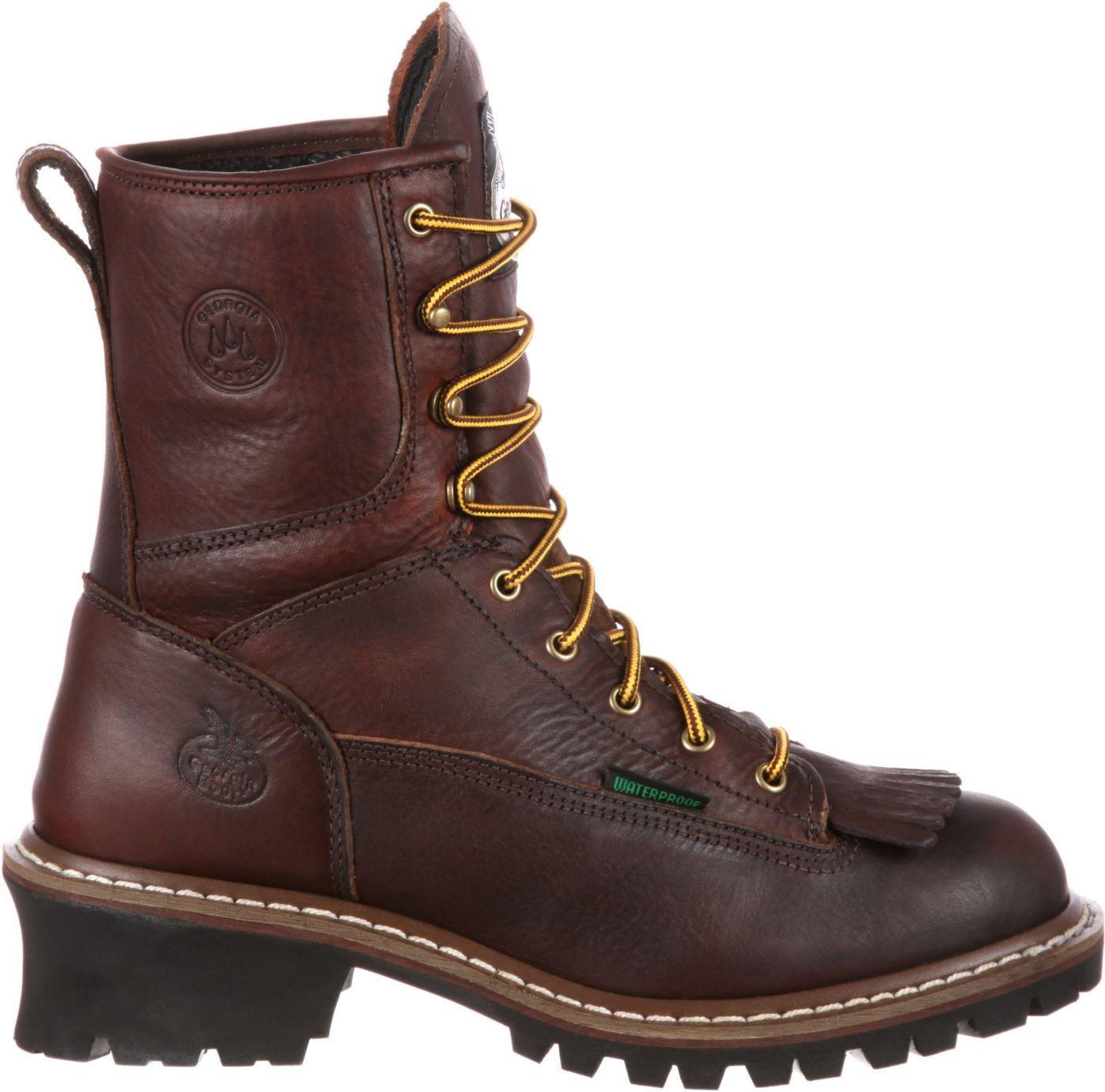 Georgia Boot Men's Waterproof Logger Work Boots
