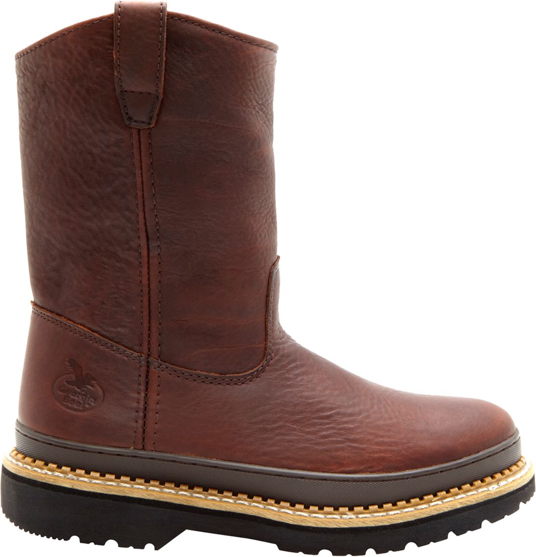5699540e9d6 Georgia Boot Men's Giant Pull-On 9'' Wellington Steel Toe Work Boots