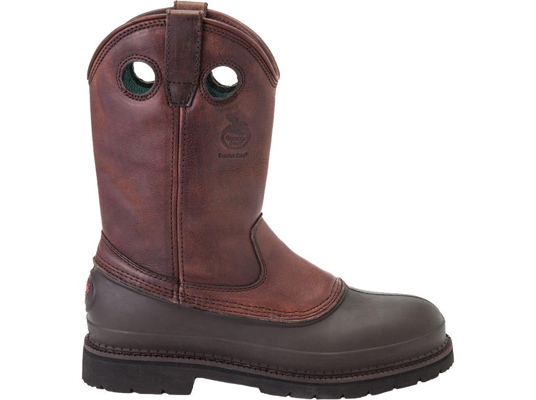 6992fb740d6 Georgia Boot Men's Mud Dog Steel Toe Pull On Work Boots