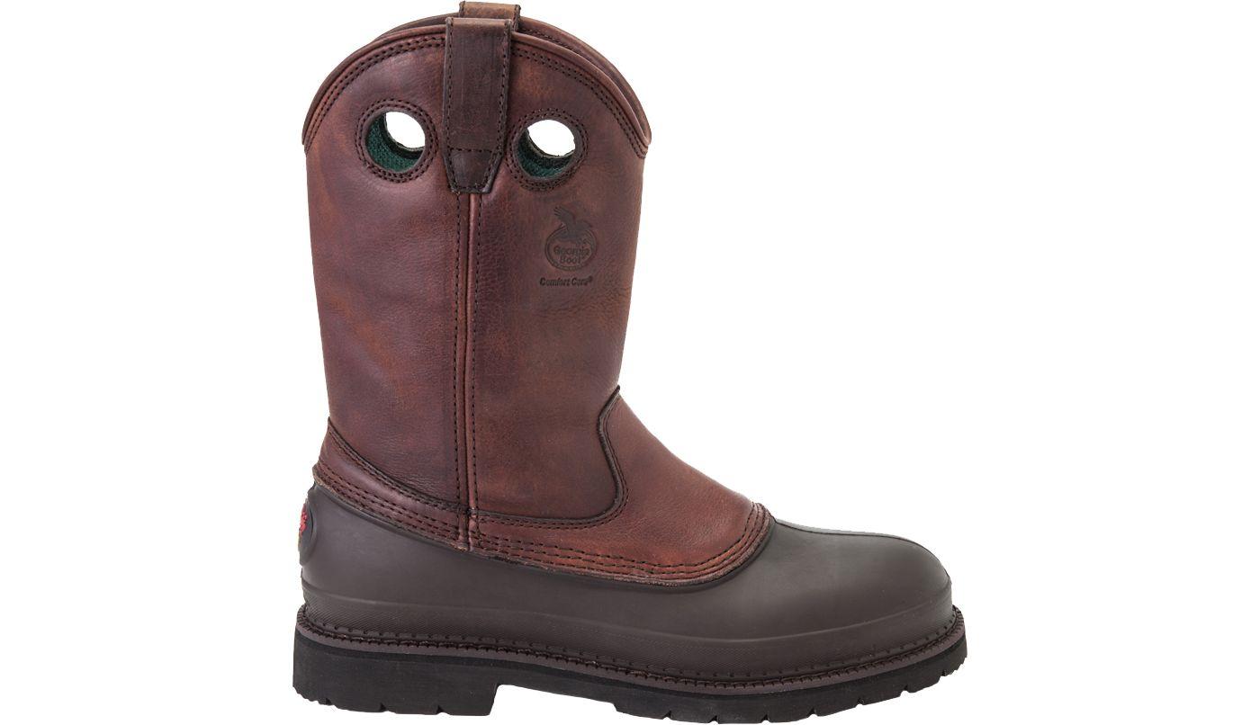 Georgia Boot Men's Muddog Pull-On Steel Toe Work Boots