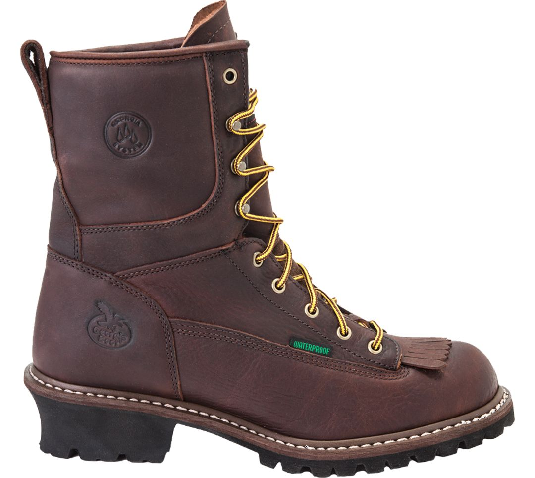 6614adb6311 Georgia Boot Men's Logger Waterproof 8'' Steel Toe Work Boots