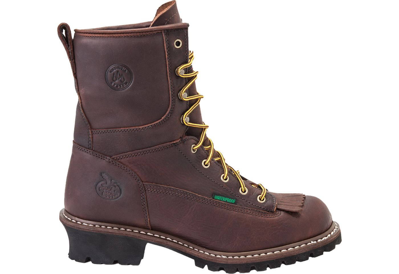 Georgia Boot Men's Logger Waterproof 8'' Steel Toe Work Boots
