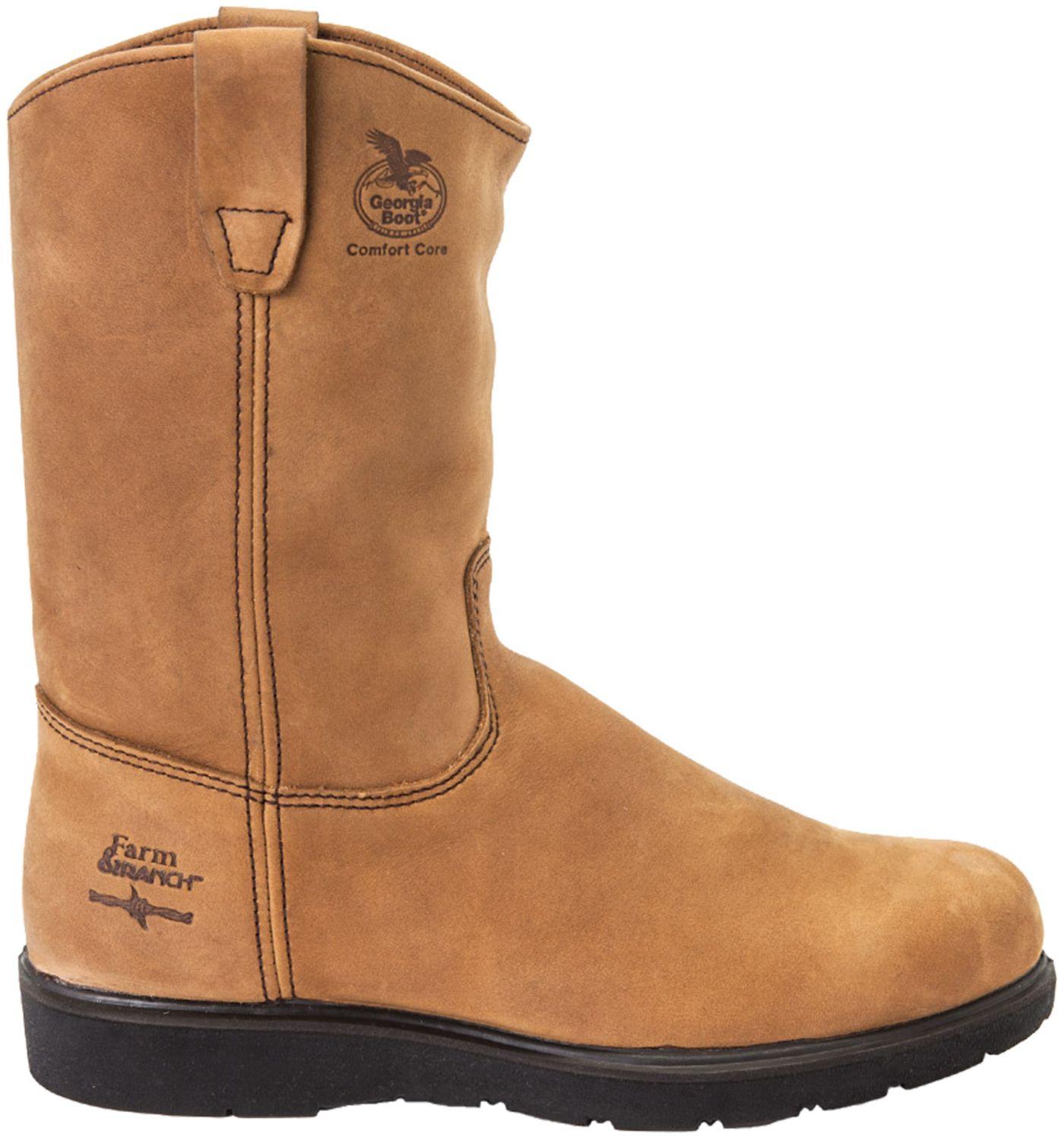 Georgia Boot Men's Farm & Ranch Wellington Comfort Core Work Boots