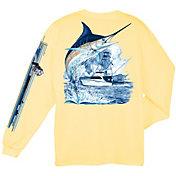 Guy Harvey Men's Marlin Boat Long Sleeve T-Shirt