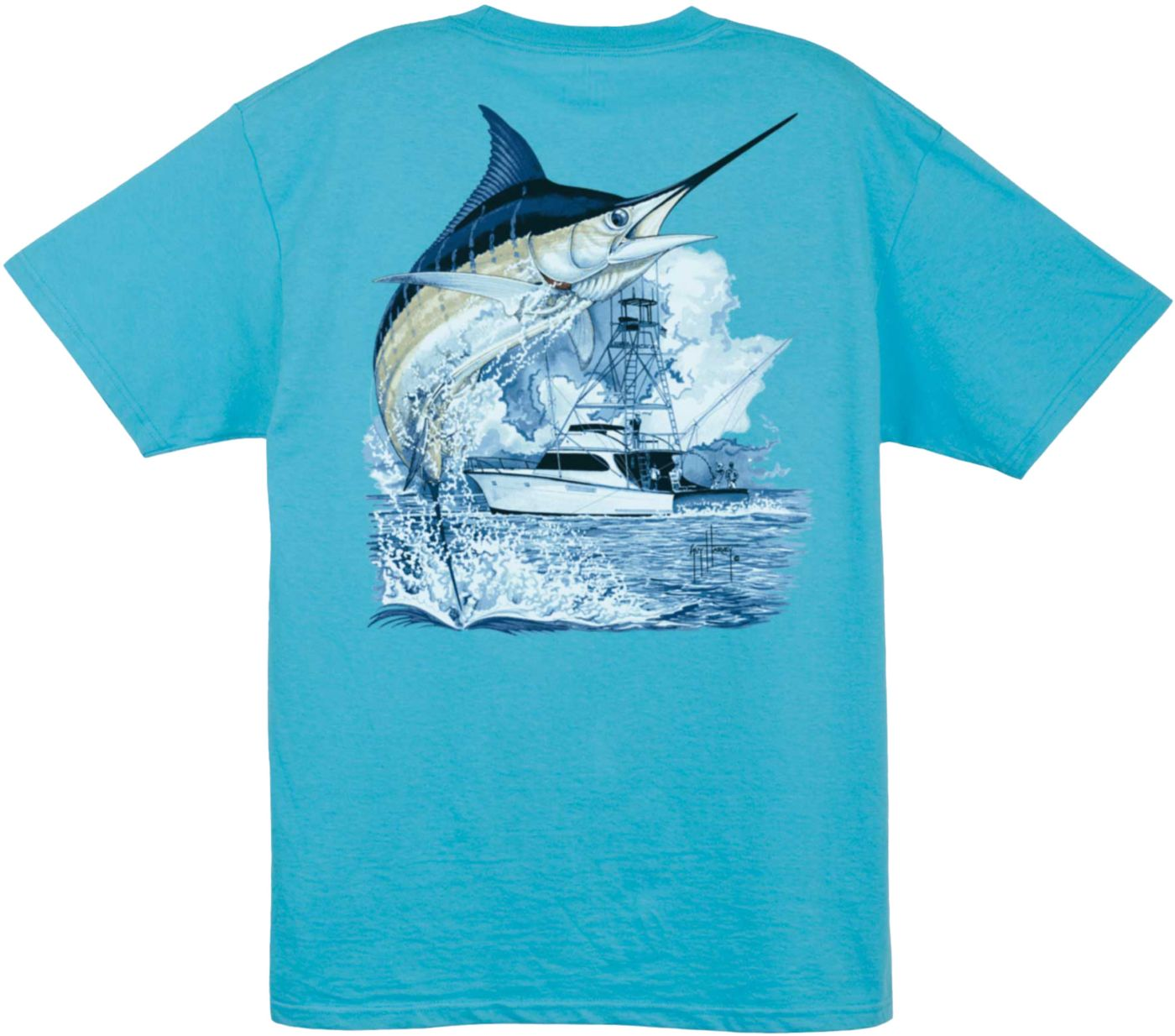 Guy Harvey Men's Marlin Boat T-Shirt