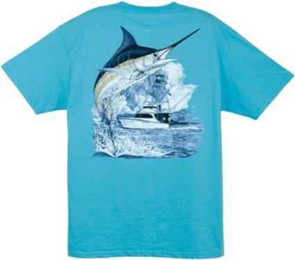 Guy Harvey Men's Marlin Boat T-Shirt