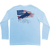 Guy Harvey Men's Patriot Pro UVX Performance Long Sleeve Shirt