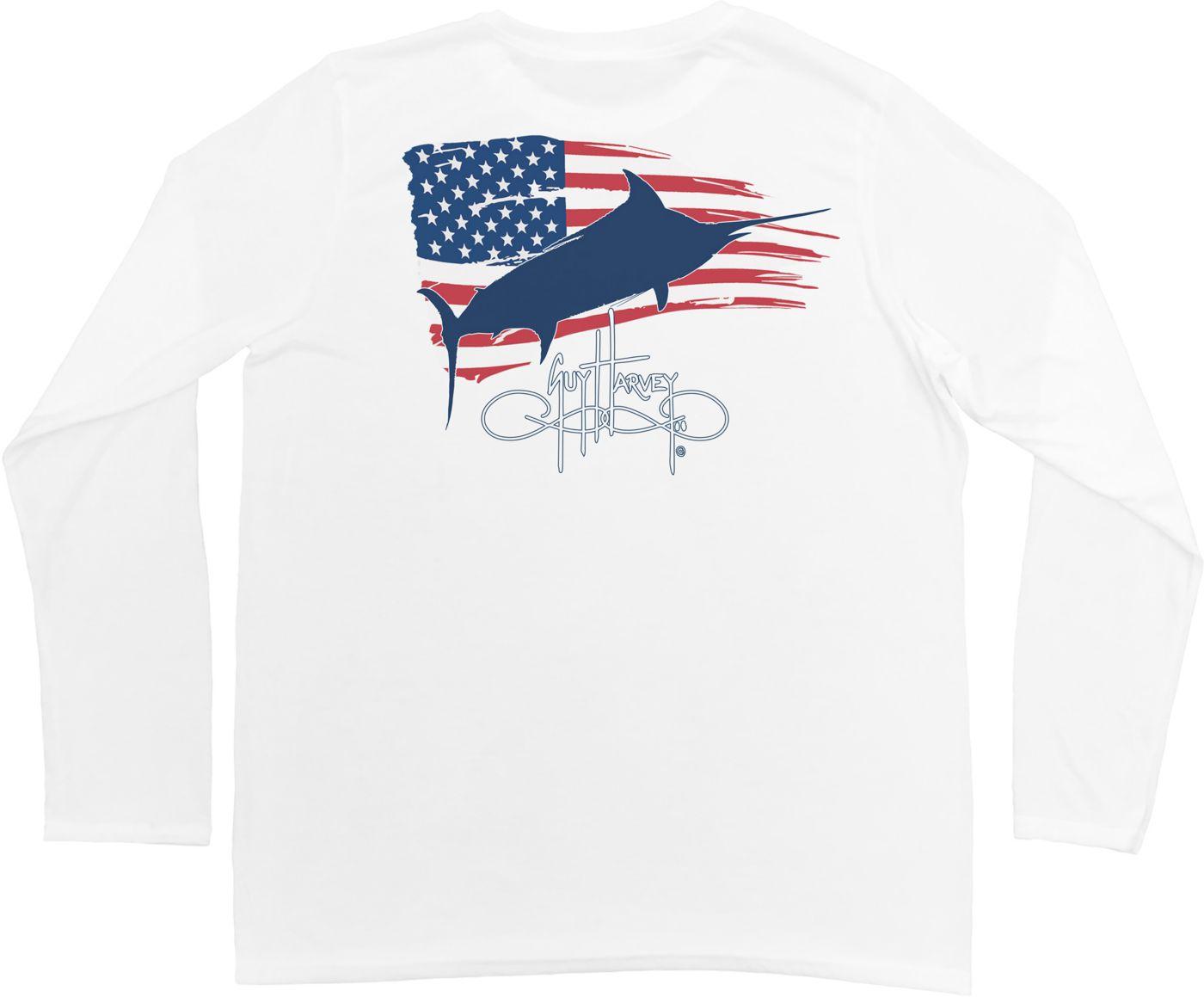 Guy Harvey Men's Patriot Pro UVX Performance Long Sleeve Shirt