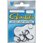 Gamakatsu Live Bait Light Wire Hooks with Solid Ring