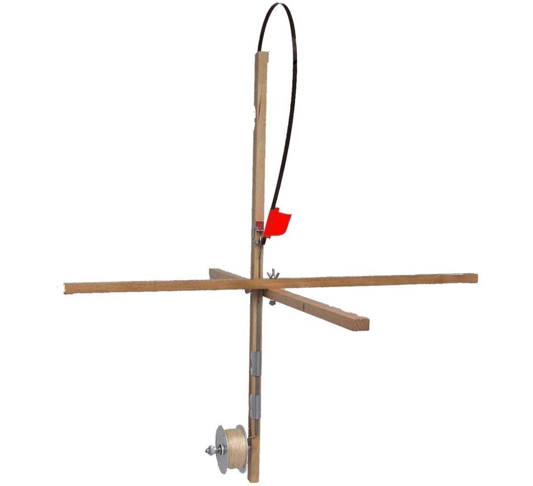 adec5d7efbaab HT Explorer Wood Stick Tip-Up (With Metal Spool, Drag, Line)