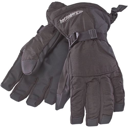 Hot Fingers Women's Rip-N-Go Glove, Size: Large, Black thumbnail