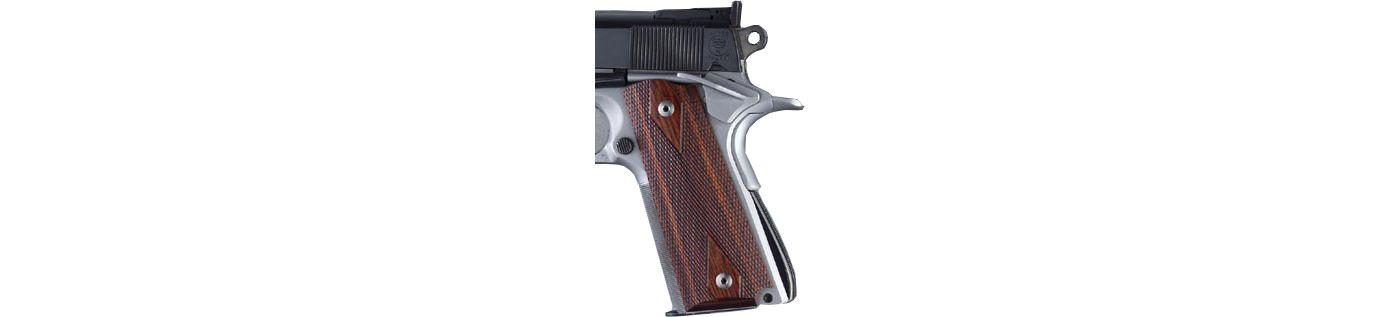 Hogue Government Rose Laminate Checkered Grip