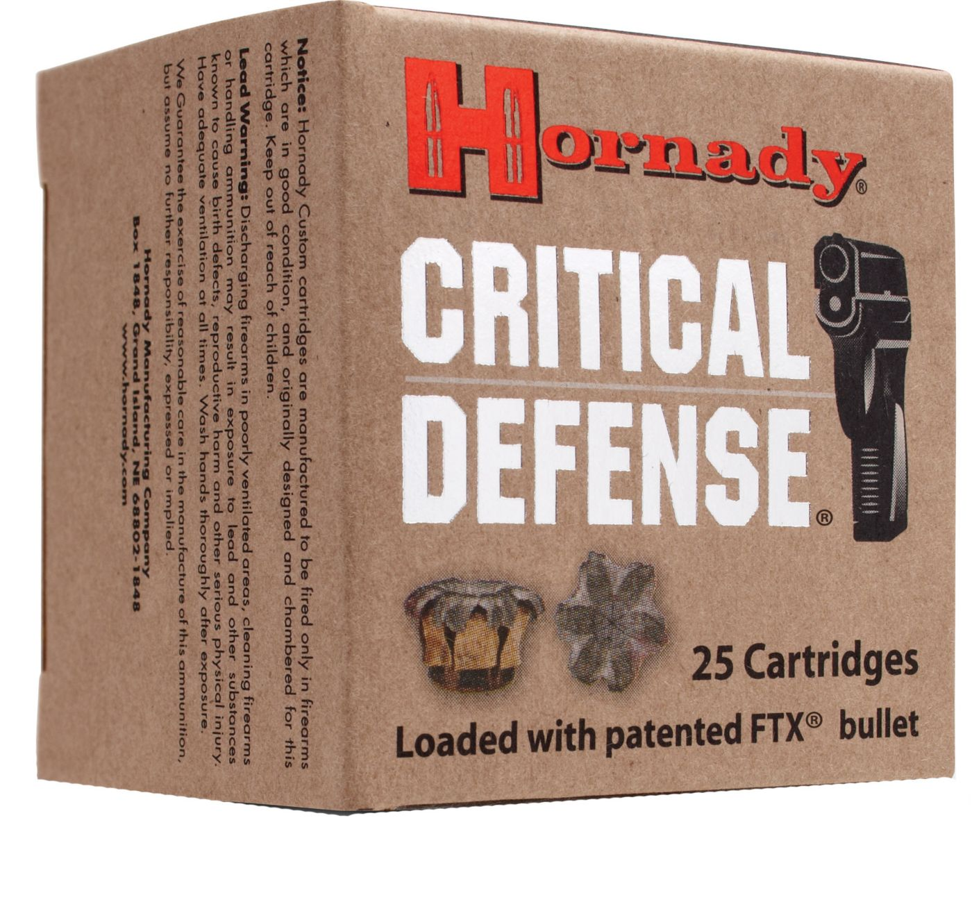Hornady Critical Defense Handgun Ammo – 25 Rounds