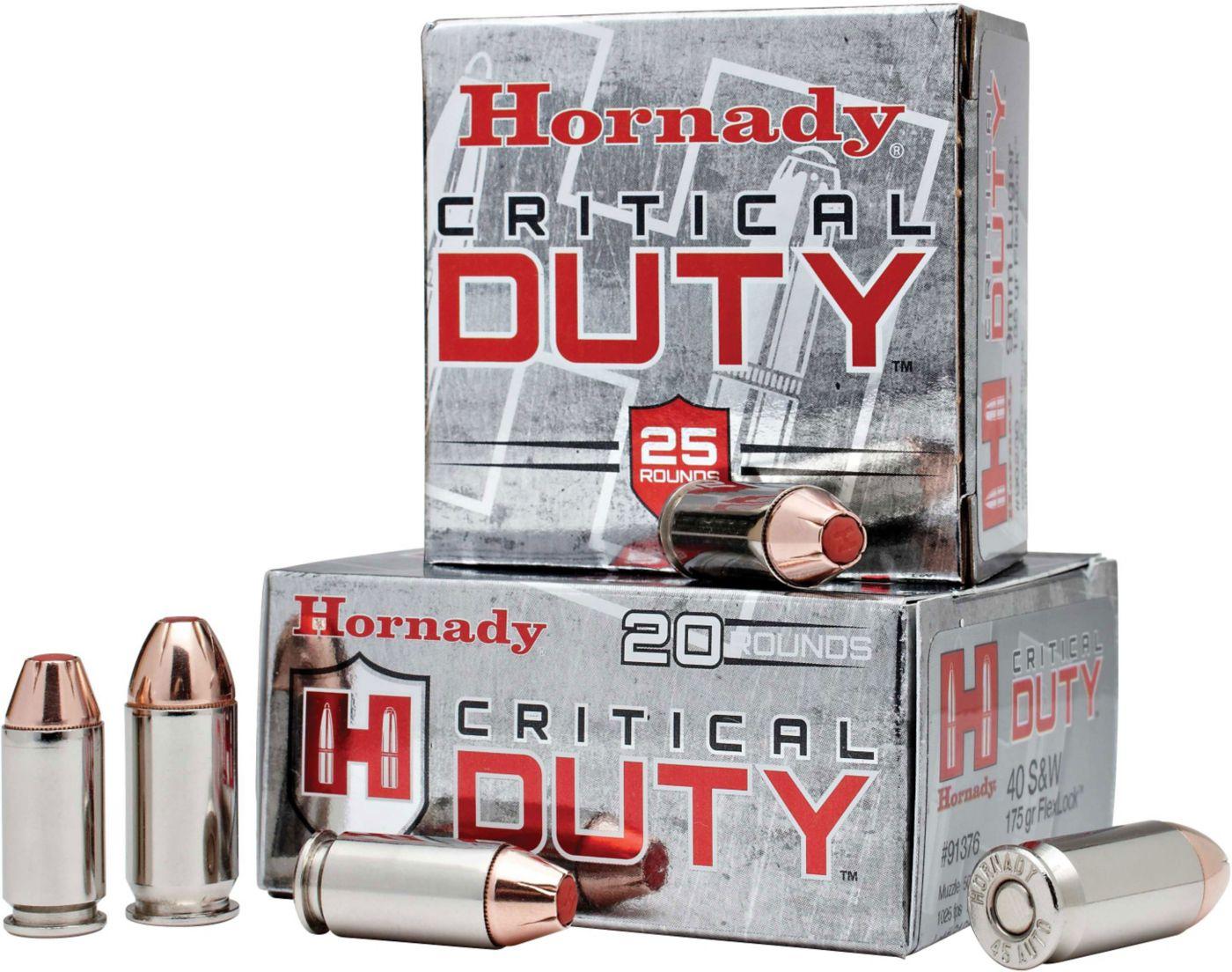 Hornady Critical DUTY Handgun Ammo – 20 Rounds