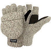 Igloos Men's Ragg Wool Pop Top Mittens