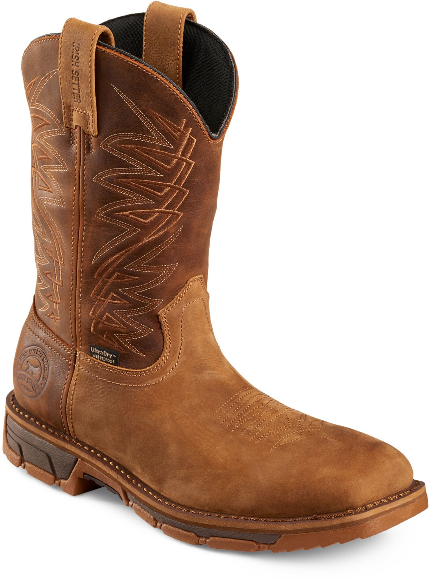 "Irish Setter Men's Marshall 11"" Pull-On Waterproof Square Steel Toe Work Boots"
