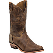 Justin Men's Cracked Bent Rail Tan Road Western Boots