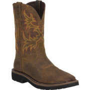 Justin Men's Rugged Tan Cowhide Stampede Work Boots