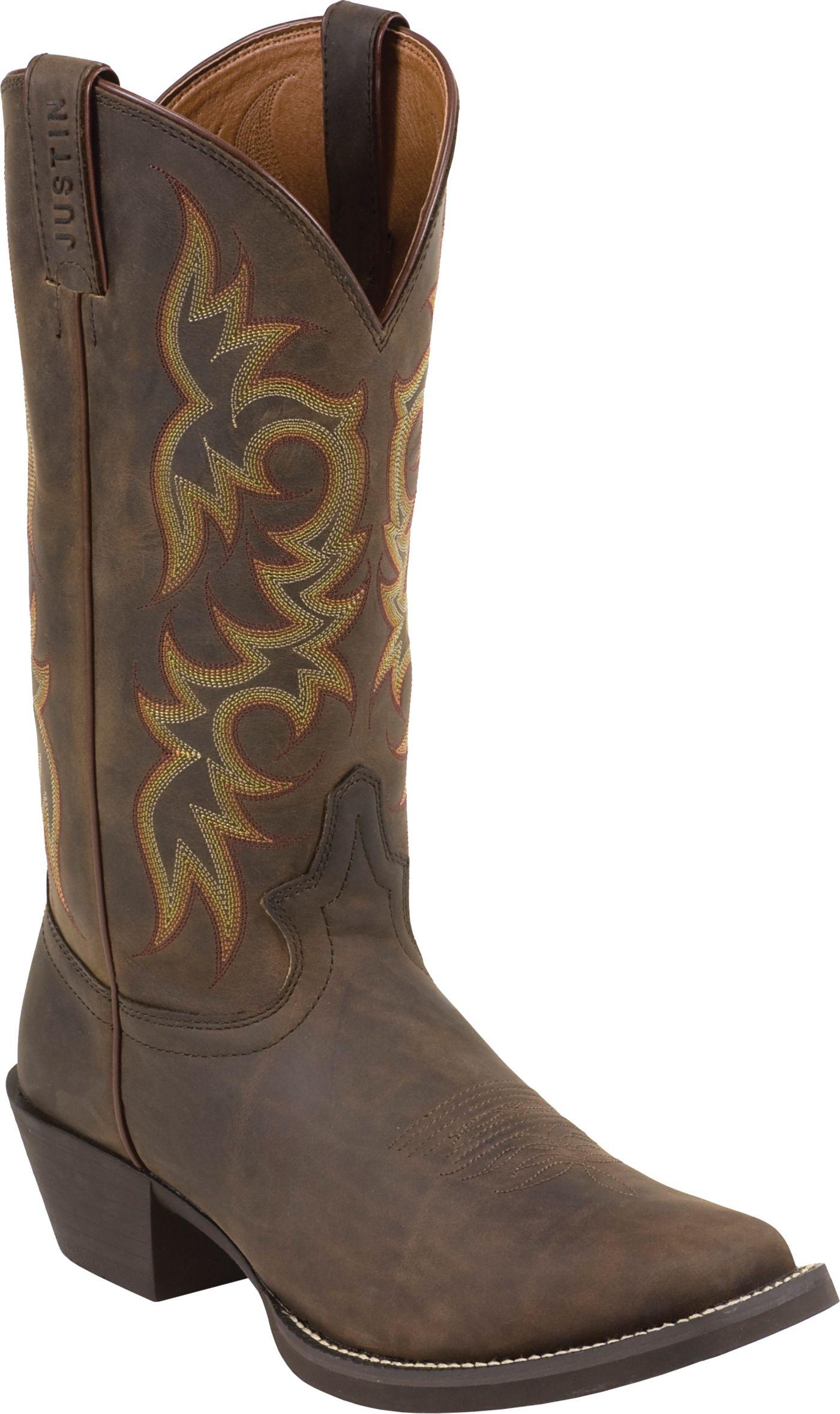 Justin Men S Sorrel Apache Stampede Western Boots Dick S
