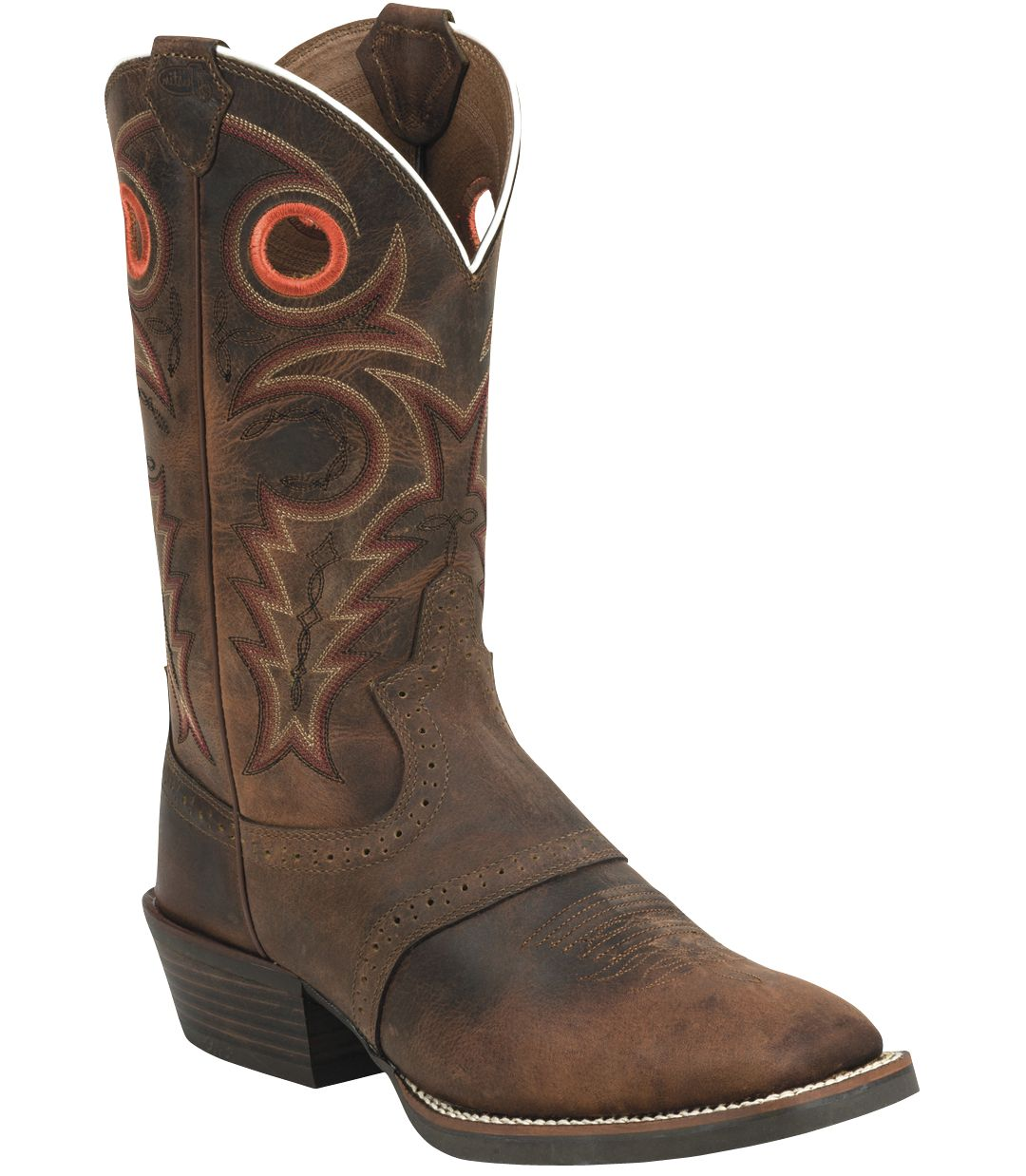 ce738c383ad Justin Men's Whiskey Buffalo Silver Collection Western Boots ...