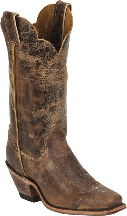 0dbc73577 Justin Women s Cracked Bent Rail Western Boots