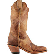 Justin Women's Cracked Bent Rail Western Boots
