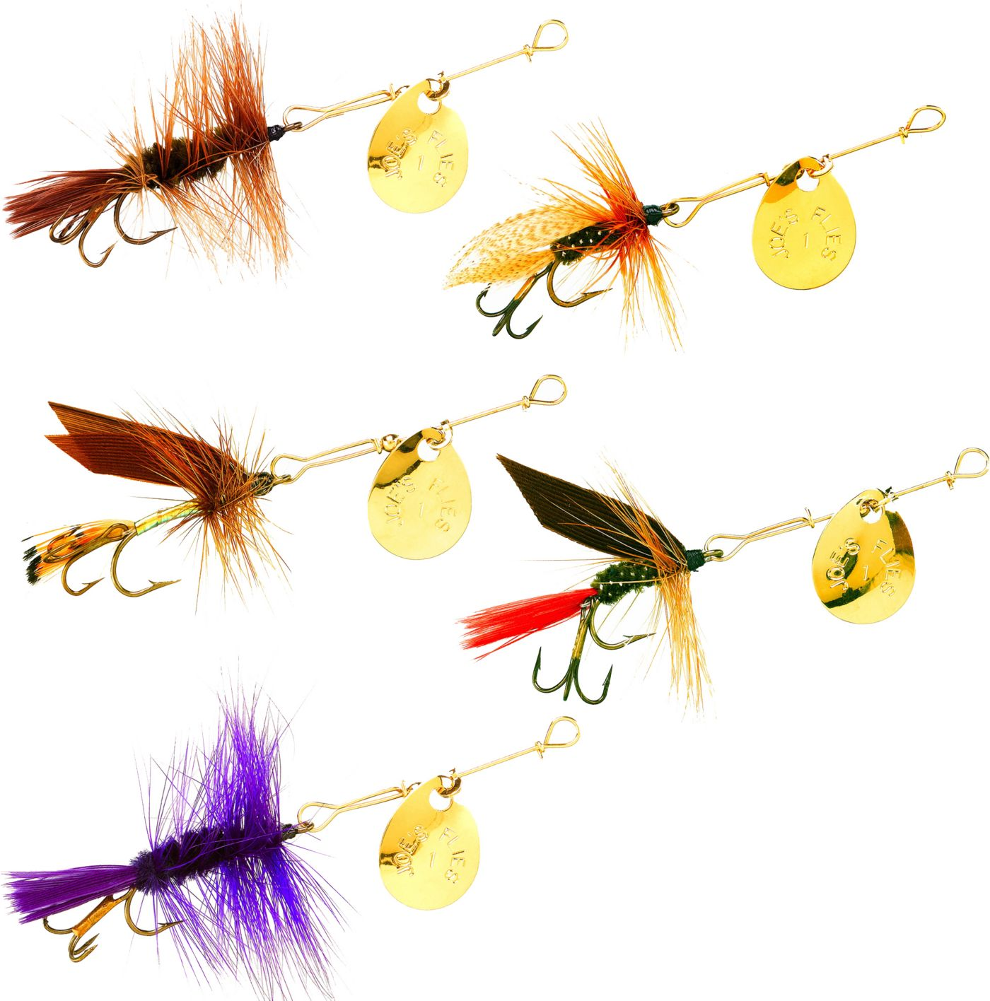 Joe's Flies Hot 4 Trout 5-Pack Lures