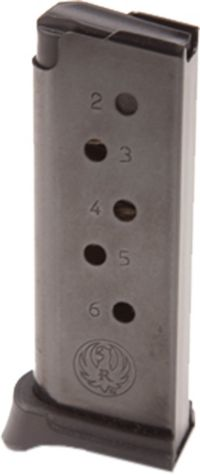 Ruger LCP  380 ACP Blue Steel Magazine w/ Finger Rest – 6 Rounds