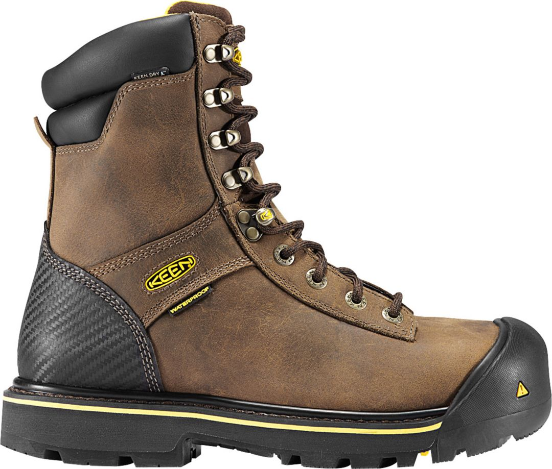 "a64ee0d9a0d KEEN Men's Wenatchee 8"" Waterproof Steel Toe Work Boots"