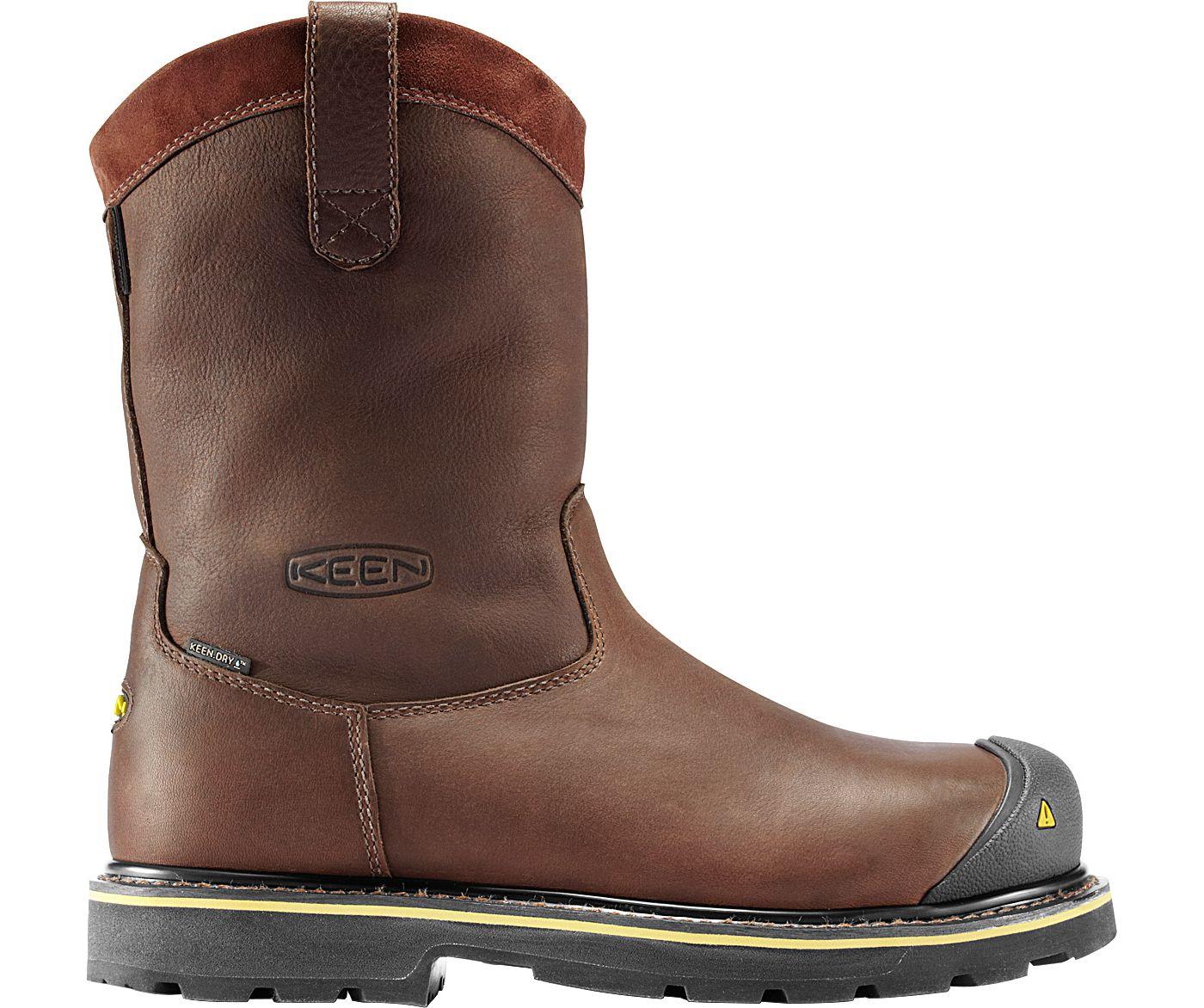 """KEEN Men's Dallas Wellington 10"""" Waterproof Steel Toe Work Boots"""