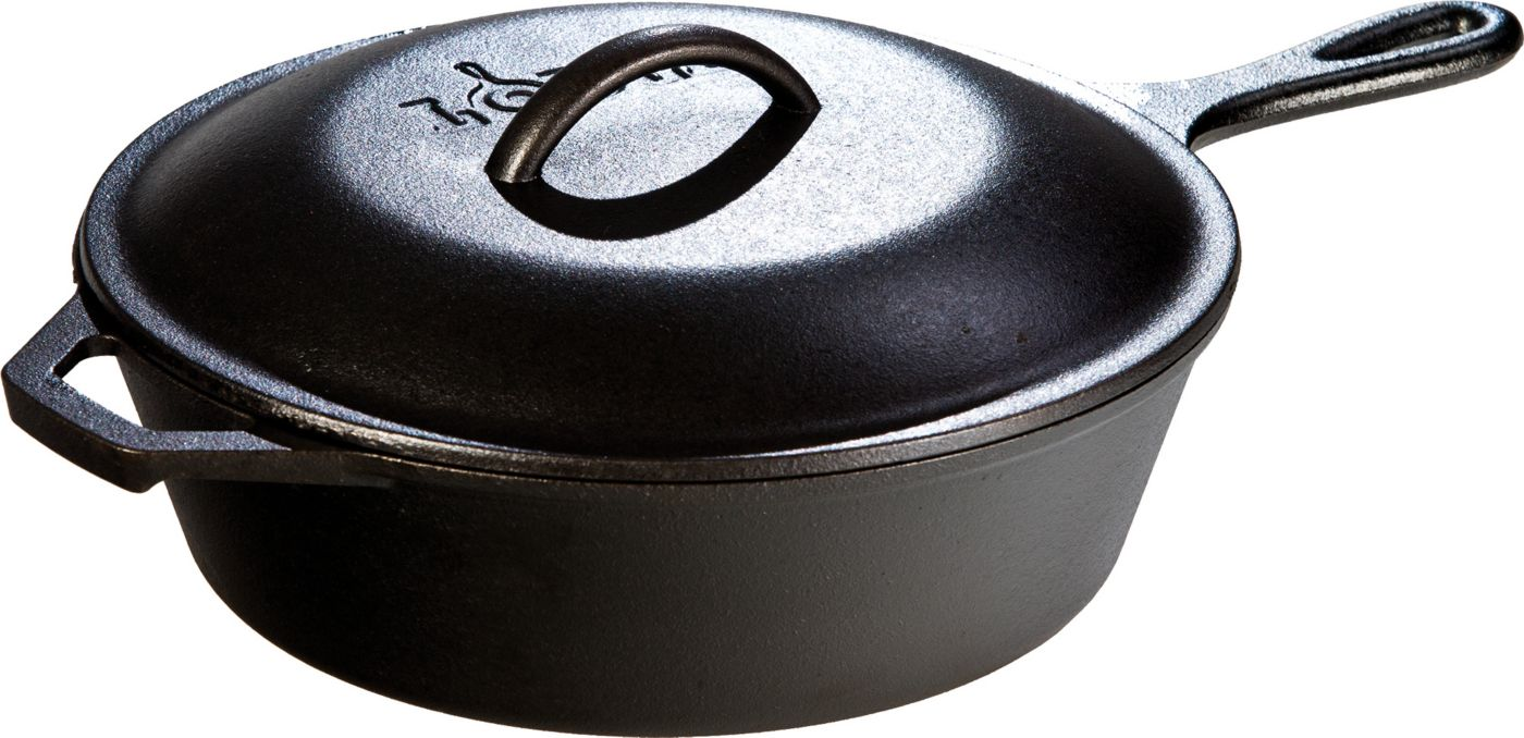 Lodge 3 Quart Cast Iron Chicken Fryer with Cover