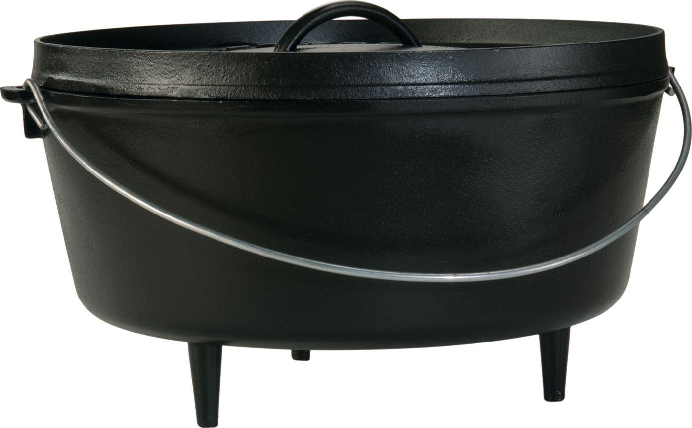 Lodge Cast Iron 10 Quart Camp Dutch Oven