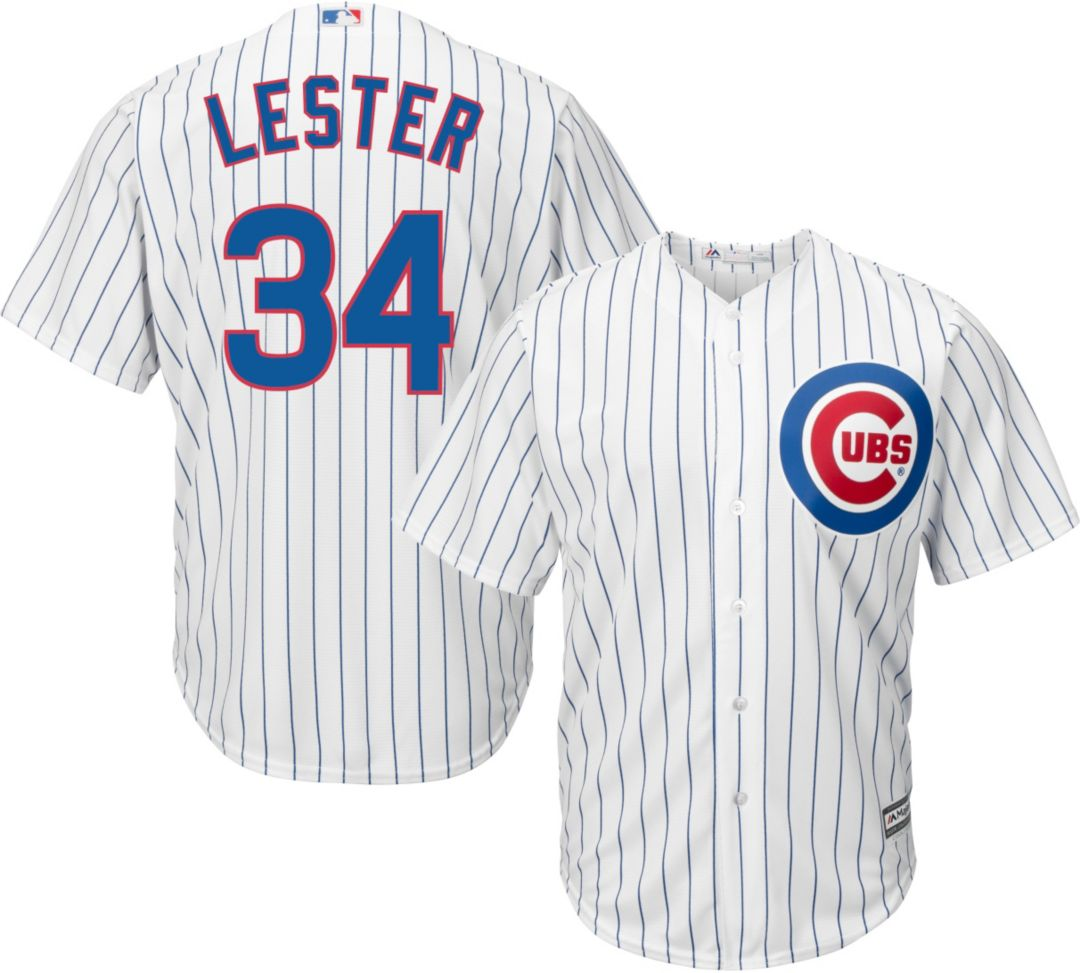 competitive price f870f a2fb0 Majestic Men's Replica Chicago Cubs Jon Lester #34 Cool Base Home White  Jersey