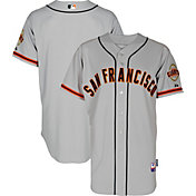 Majestic Men's Authentic San Francisco Giants Cool Base Road Grey On-Field Jersey