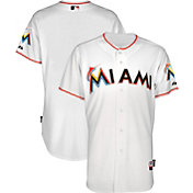 Majestic Men's Authentic Miami Marlins Cool Base Home White On-Field Jersey