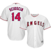 Majestic Men's Replica Los Angeles Angels Mike Scioscia #14 Cool Base Home White Jersey