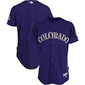 Majestic Men's Authentic Colorado Rockies Cool Base Alternate Purple On-Field Jersey