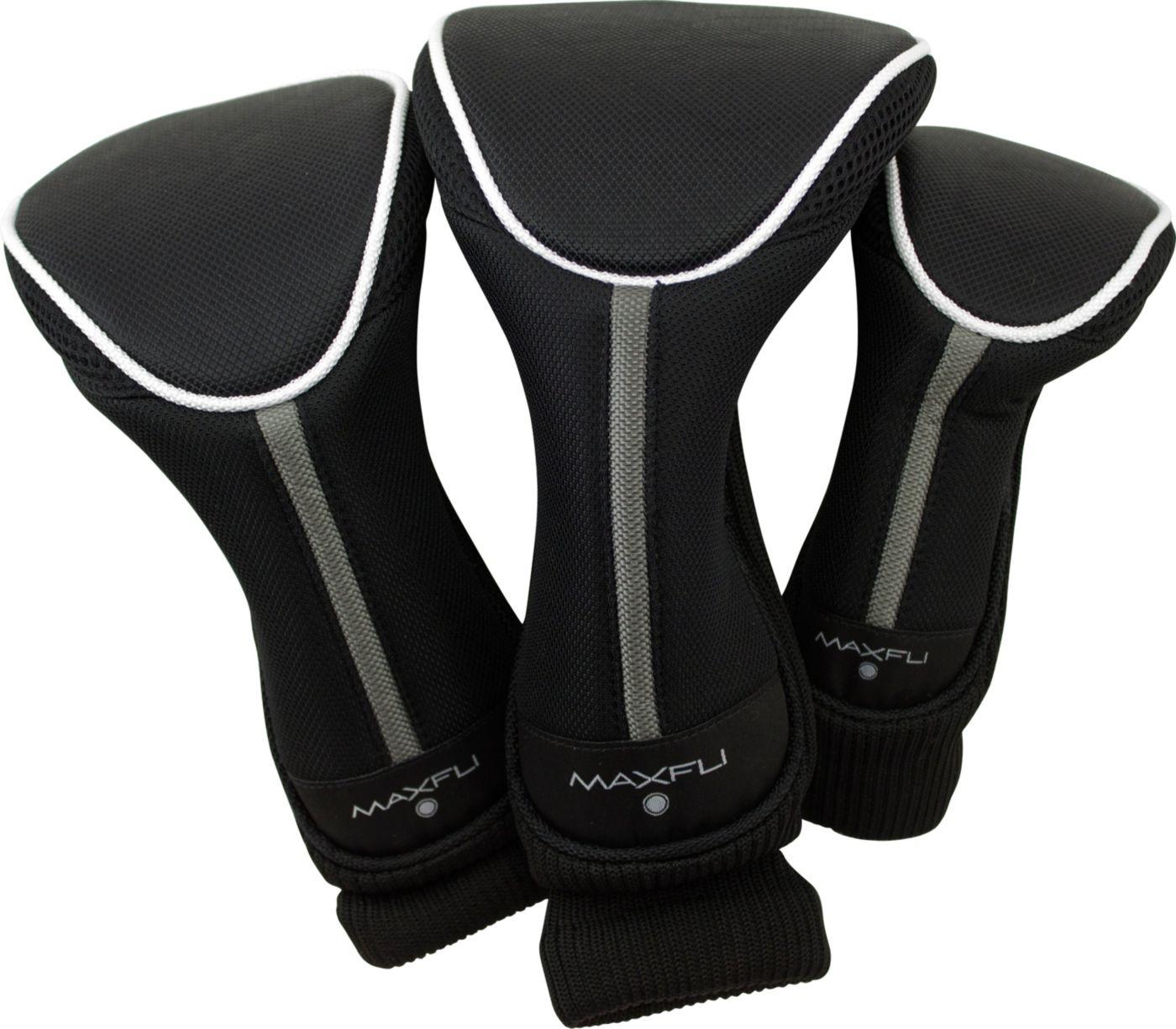 Maxfli Black/Blue Headcovers - 3 Pack