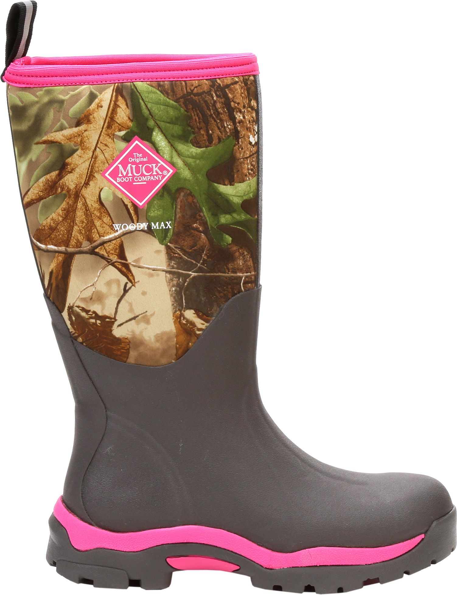 Muck Boots Women's Woody PK Rubber Hunting Boots, Size: 8.0, Brown thumbnail