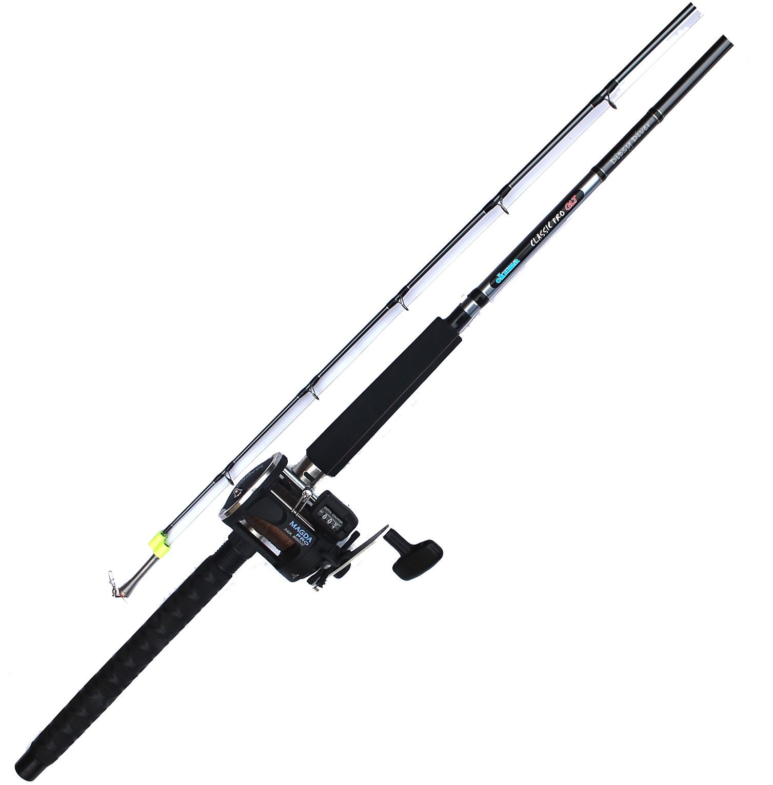 Okuma Wire Pre-Rigged Trolling Combo, Size: Medium thumbnail