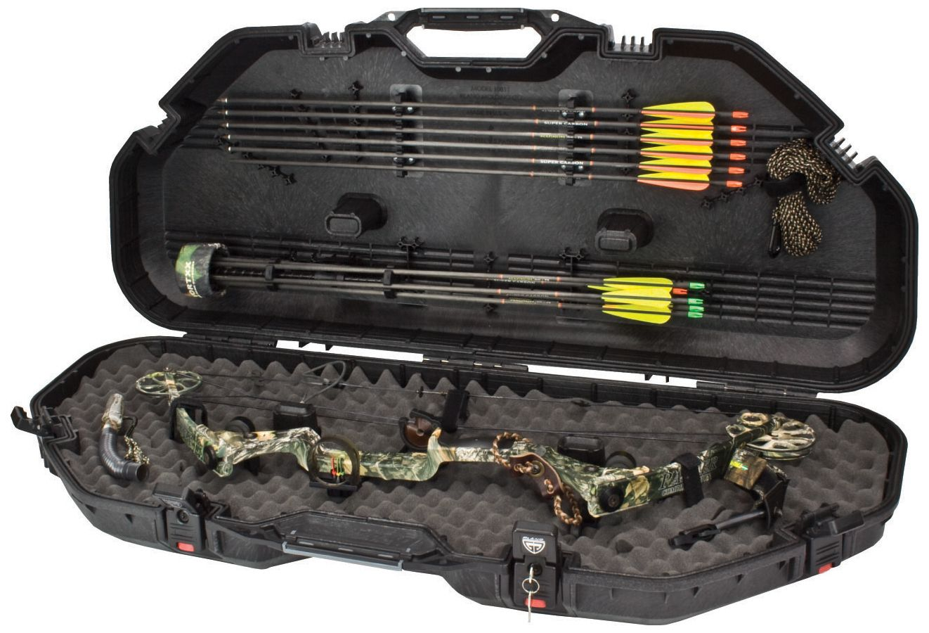 Plano Bow Guard AW Lock Bow Case, carbon
