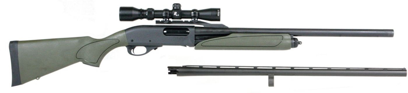 Remington Model 870 Express Synthetic Pump-Action Shotgun Package – 2-7x32mm Scope