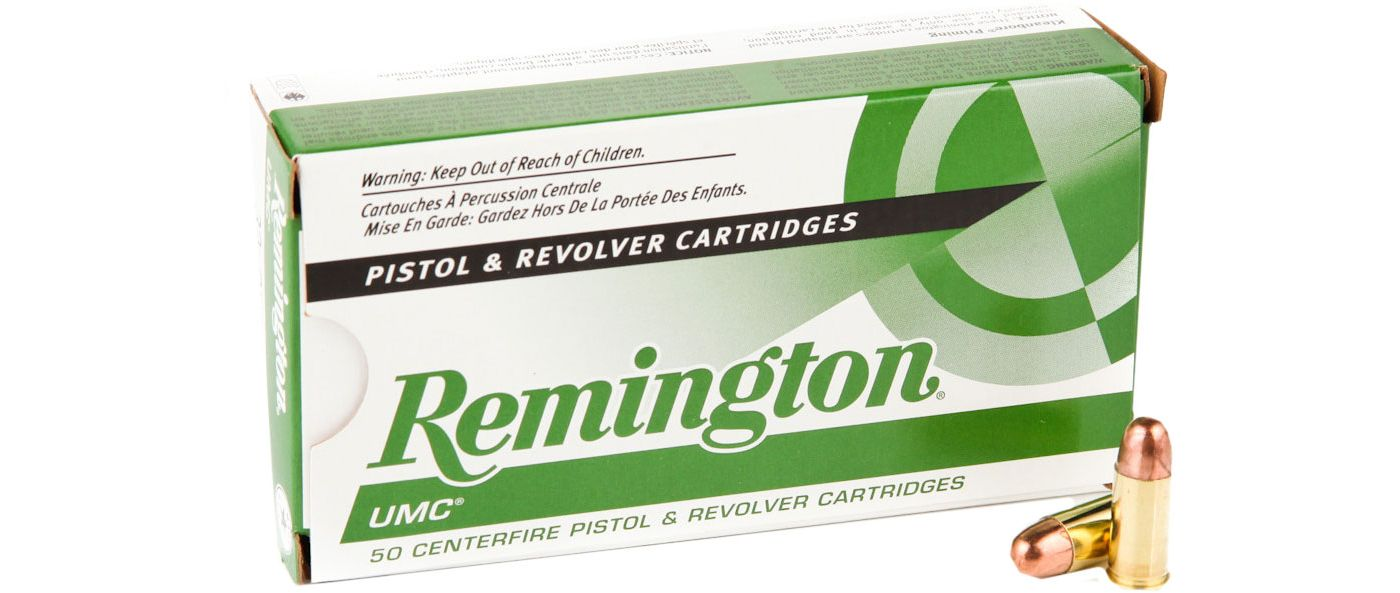 Remington UMC Full Metal Jacket Handgun Ammunition - 50 Rounds
