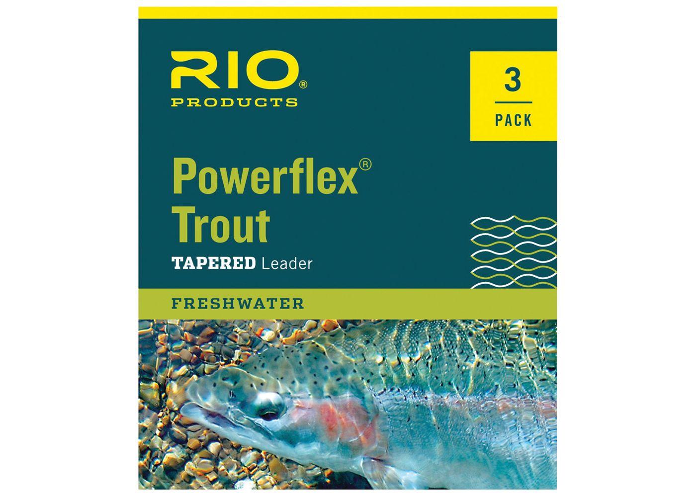 RIO Powerflex Trout Leaders - 3 Pack