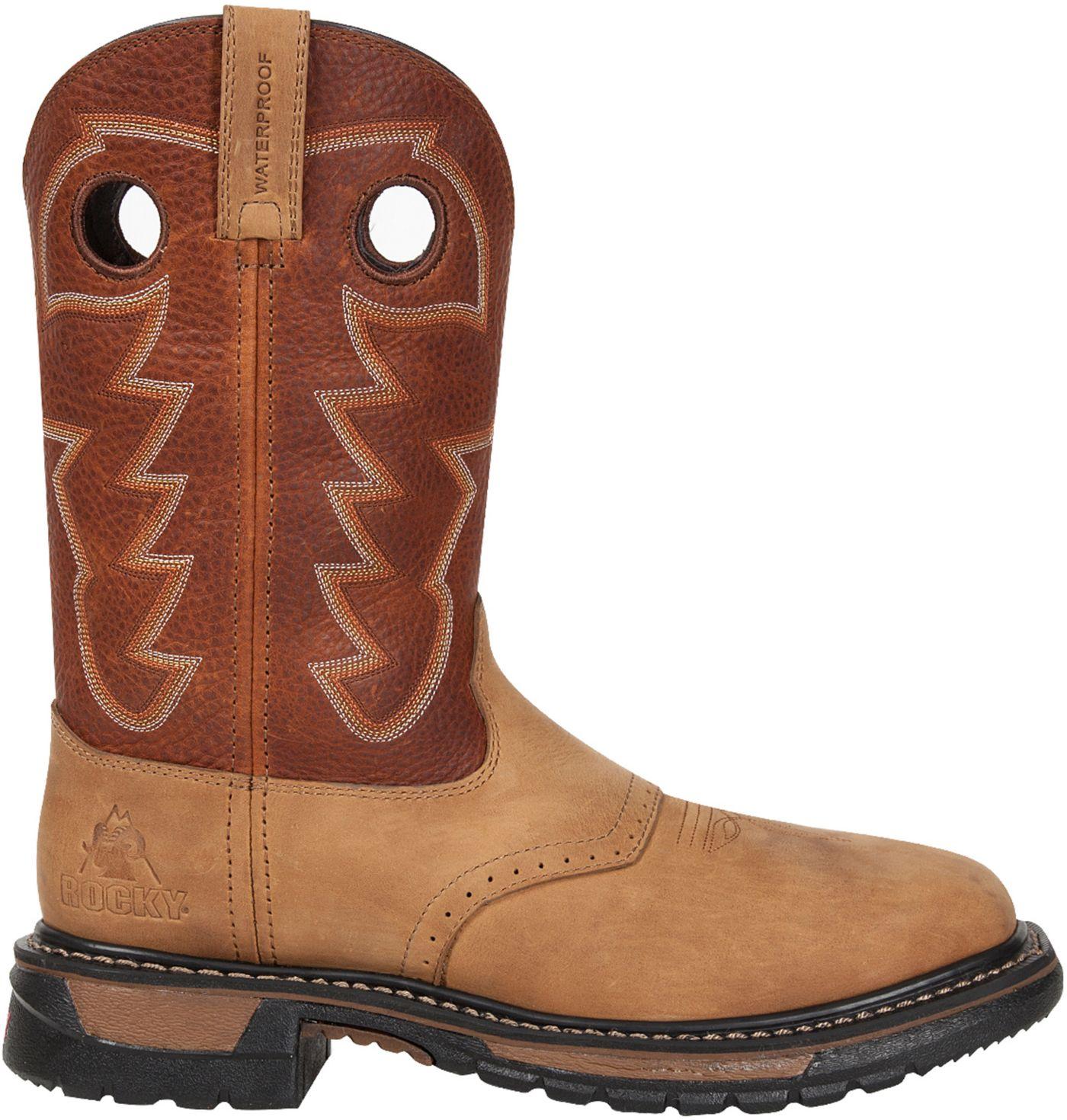 "Rocky Men's Original Ride 11"" Steel Toe Western Work Boots"